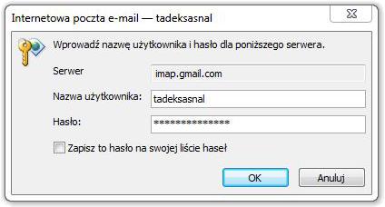 Outlook hasło weryfikacja
