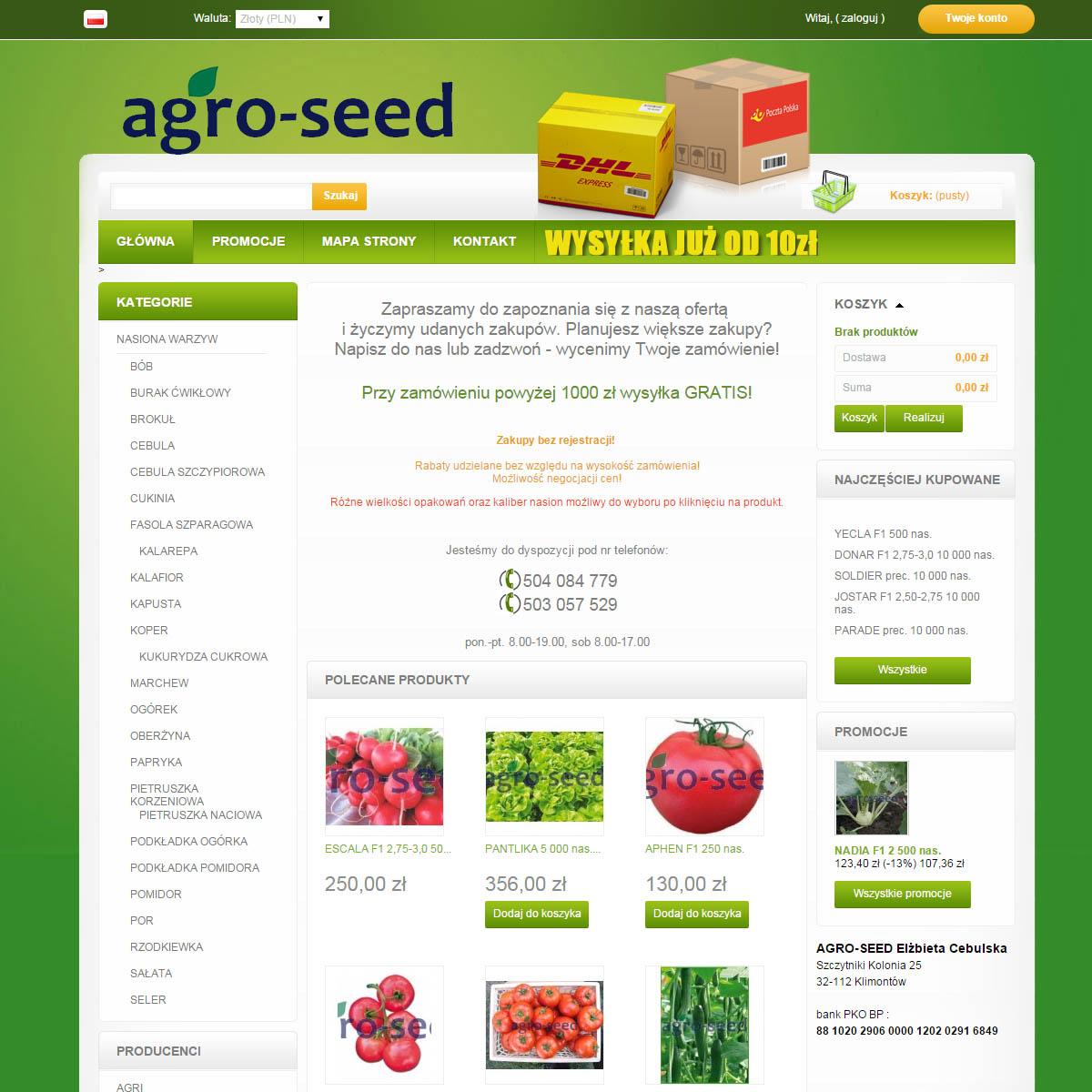 Agro Seed   Nasiona Holenderskie   Agro nasiona