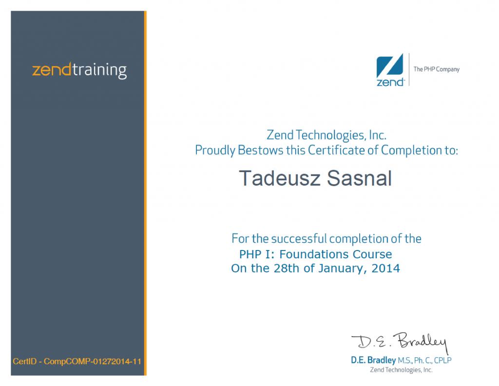 Zend Foundations Course