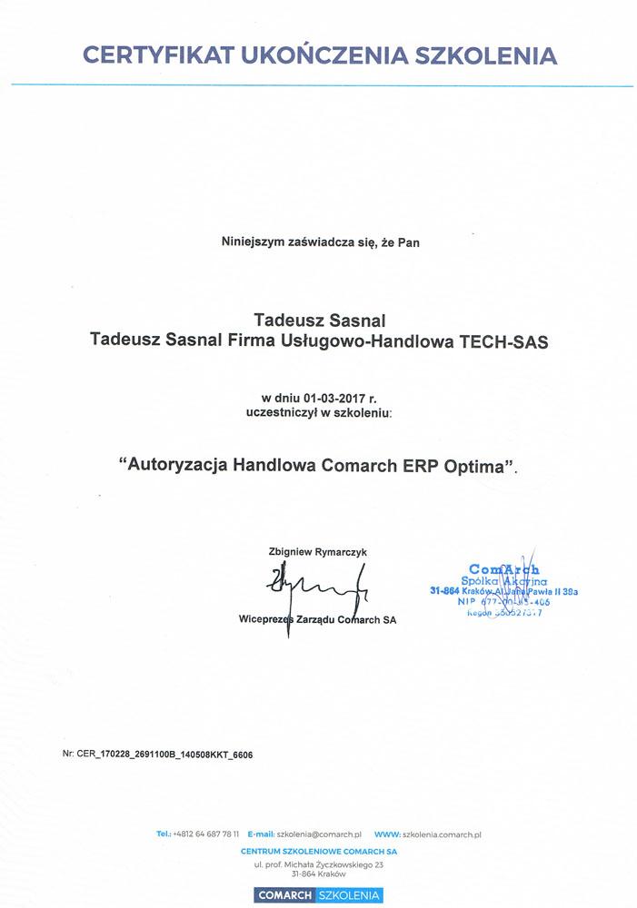 Autoryzacja Handlowa Comarch ERP Optima