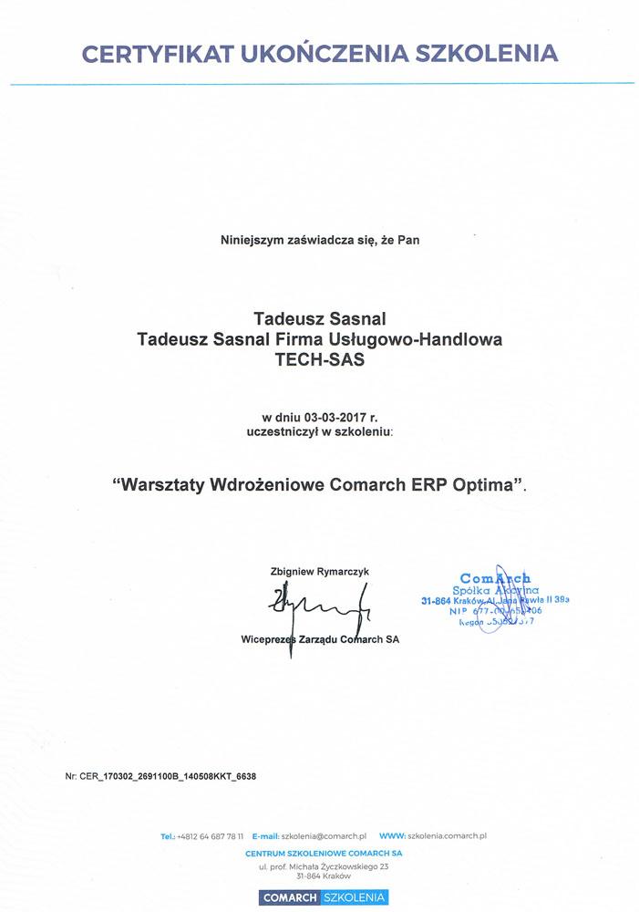 Warszataty wdrożeniowe Comarch ERP Optima