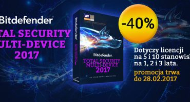 W lutym Bitdefender Total Security Multi-Device – 40%