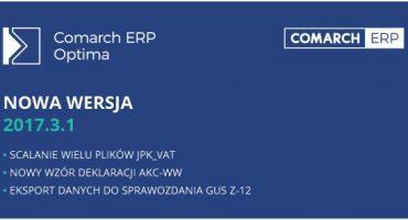 Nowa wersja Comarch ERP Optima 2017.3.1 – jest już dostępna!